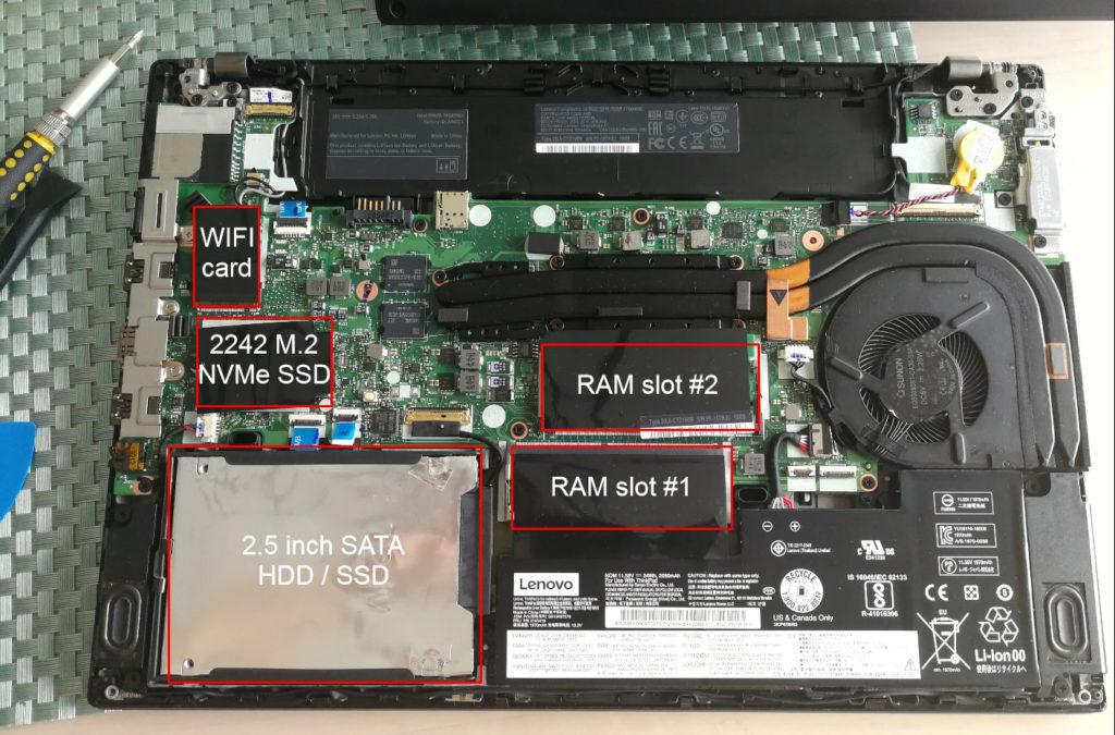 Lenovo Thinkpad T480 Teardown